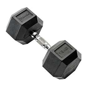York Fitness Rubber Hex Dumbbell 15kg