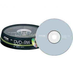 TDK DVD+RW 4,7GB 4x 10-pack Spindel