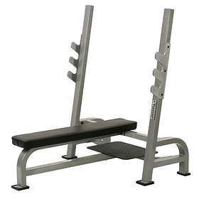 York Fitness STS Olympic Flat Bench Press with Gun Racks