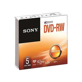 Sony DVD-RW 4,7GB 2x 5-pack Slimcase