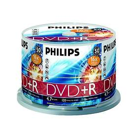 Philips DVD+R 4,7GB 16x 50-pakning Spindel