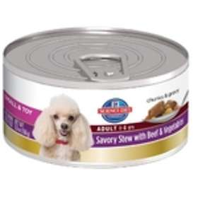Hills Canine Science Diet Adult Small Savory Stew Beef & Vegetables 0.