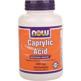 Now Foods Caprylic Acid 600mg 100 Capsules