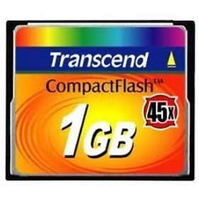 Transcend Compact Flash 45x 1Go