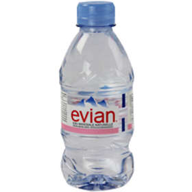 Evian Natural Mineral Water 0.33l 24-pack