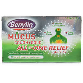 McNeil Benylin Mucus Cough & Cold All In One Relief 250mg 16 Tablets