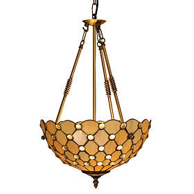 Oaks Lighting Tiffany Jewel Semi Flush 14