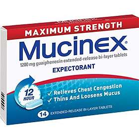 Reckitt Benckiser Mucinex DM Maximum Strength 1200mg 14 Tablets
