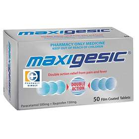 AFT Pharmaceuticals Maxigesic 500mg/150mg 50 Tablets