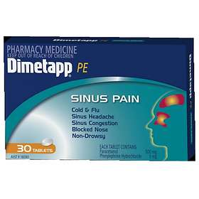 Pfizer Dimetapp PE Sinus Pain 30 Tablets