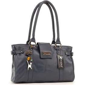 Catwalk Collection Handbags Leather Handbag Martina Navy