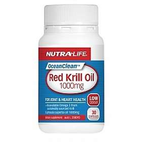 Nutralife Red Krill Oil 1000mg 30 Capsules