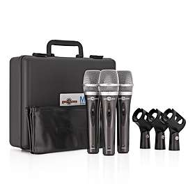 Gear4music 3 Piece Microphone Set