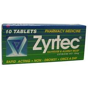 UCB Nordic Zyrtec 10mg 10 Tablets