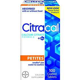 Bayer Citracal Calcium Citrate + D3 100 Tabletter