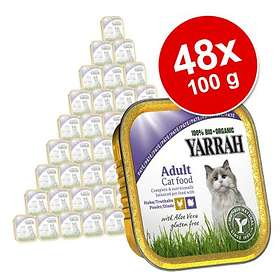 Yarrah Cat Adult Pate Chicken & Turkey with Aloe Vera 48x0,1kg