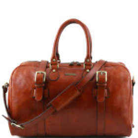 Tuscany Leather TL Voyager Large Leather Travel Bag with Front Straps