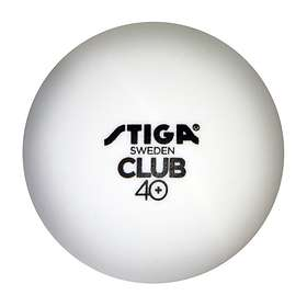 Stiga Sports Club 40+ Polyball White/Orange (100 bollar)