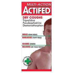 GSK GlaxoSmithKline Actifed Multi-Action Dry Coughs Elixir 100ml