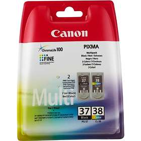 Canon PG-37 (Black) + CL-38 (3-Colour)
