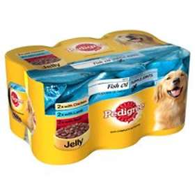 Pedigree Adult Cans Jelly Fish Oil 6x0.4kg