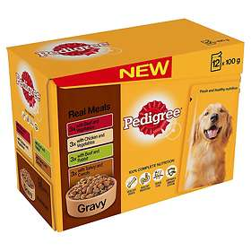 Pedigree Adult Pouches Real Meals 12x0.1kg