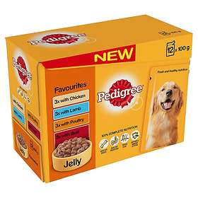 Pedigree Adult Pouches Favourites in Jelly 12x0.1kg