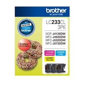 Brother LC233 (Cyan/Magenta/Yellow)