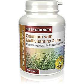 Simply Supplements Selenium 200mcg with Multivitamins & Iron 360 Tabletter