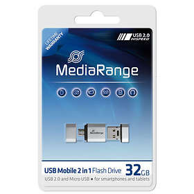 MediaRange USB Mobile 2in1 + OTG Adapter 32GB