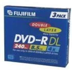 Fujifilm DVD-R DL 8,5GB 4x 3-pack Jewelcase