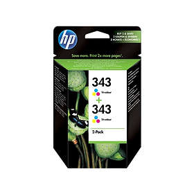 HP 339 (Black) 2-pack + 343 (3-Colour) 2-pack