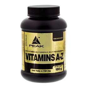Peak Vitamins A-Z 240 Tablets