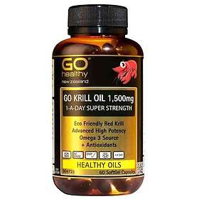 Go Healthy Krill Oil 1500mg Super Strength 60 Capsules