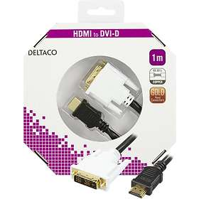 Deltaco HDMI - DVI-D Single Link 1m