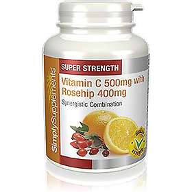 Simply Supplements Vitamin C 500mg & Rosehip 400mg 360 Tabletter
