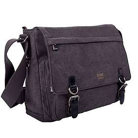 Troop London Classic Canvas Laptop Messenger 17""