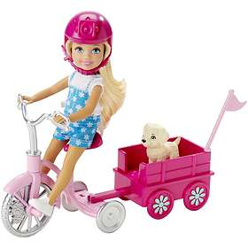 Barbie & Her Sisters in the Great Puppy Adventure Chelsea Doll & Trike CLG02