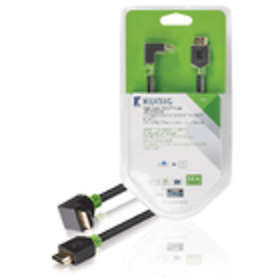 König KNV HDMI - HDMI High Speed with Ethernet (angled) 90° 3m