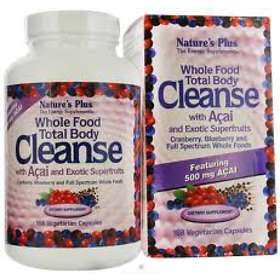 Nature's Plus Whole Food Total Body Cleanse with Acai 168 Capsules