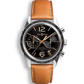 Bell & Ross Vintage BR Chronograph 126 Sport Heritage GMT & Flyback Leather