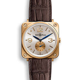 Bell & Ross Aviation BR S Pink Gold Leather
