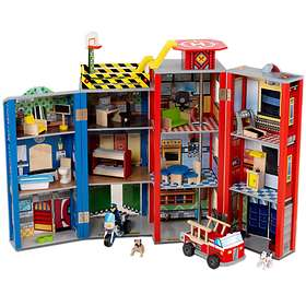 KidKraft Everyday Heroes Police & Fire Set (63239)