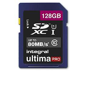 Integral UltimaPro SDXC Class 10 UHS-I U1 80MB/s 128GB