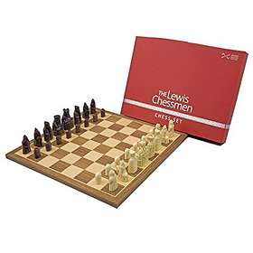 The Official Lewis Walnut Chess Schack Set Mid Sized
