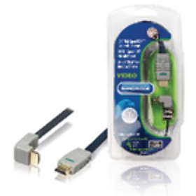 Bandridge Blue Flat HDMI - HDMI High Speed with Ethernet (angled) 270° 1m