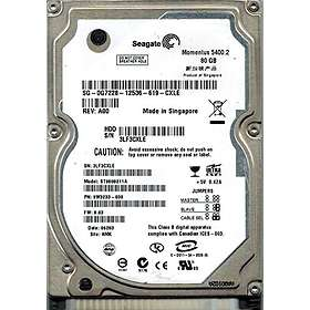 Seagate Momentus 5400.2 ST9808211A 8MB 80GB