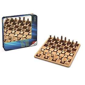 Chess and Checkers in Metal Box
