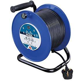 Masterplug Open Cable Reel 4-Way 50m