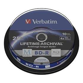 Verbatim M-Disc BD-R 25GB 4x 10-pack Cakebox Inkjet